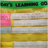 Learning Goal Pocket Chart