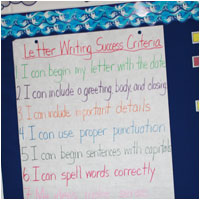 Letter Writing Success Criteria