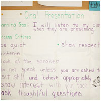 Oral Presentation Success Criteria Listening