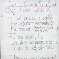 Success Criteria Math